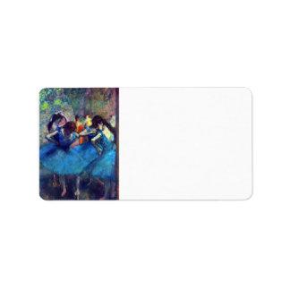 Edgar Degas - bailarines Etiquetas De Dirección
