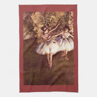 Edgar Degas - bailarines jovenes Toallas