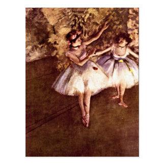 Edgar Degas - bailarines jovenes Tarjeta Postal