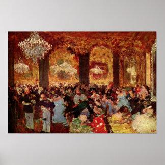 Edgar Degas - Ball Dinner Copy Menzell oil Theatre Poster