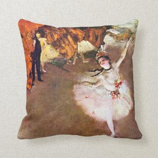 Edgar Degas - Ballerina painting Throw Pillow