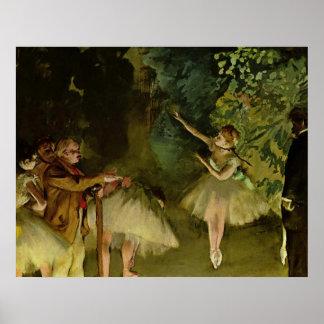 Edgar Degas - Ballet 1875 Dancer Dance girls tutu Poster