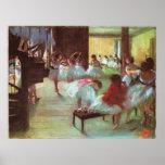 Edgar Degas - Ballet 1879-80 Shoe Stair Dancer Oil Poster