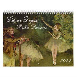 Edgar Degas Ballet Dancers 2011 Calendar