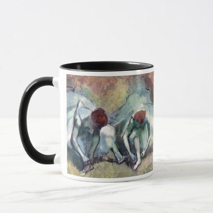 Edgar Degas - Ballet Dancers Tying Shoes Mug
