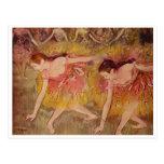 Edgar Degas - ballet de los chicas de los bailarin Tarjeta Postal