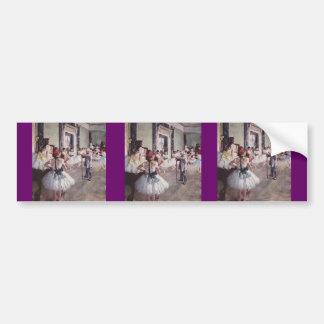 Edgar Degas Ballet Lesson Bumper Sticker