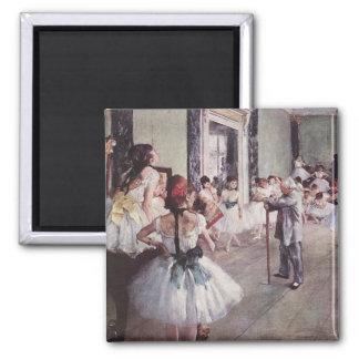 Edgar Degas Ballet Lesson 2 Inch Square Magnet
