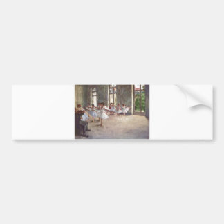Edgar Degas - Ballet Rehearsal Class 1873 oil Bumper Sticker