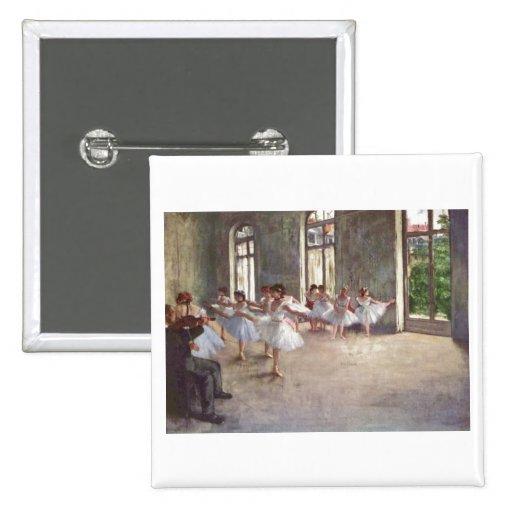 Edgar Degas - Ballet Rehearsal Class 1873 oil Buttons