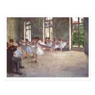 Edgar Degas - Ballet Rehearsal Class 1873 oil Postcard