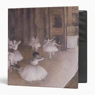 Edgar Degas   Ballet Rehearsal on the Stage, 1874 3 Ring Binder