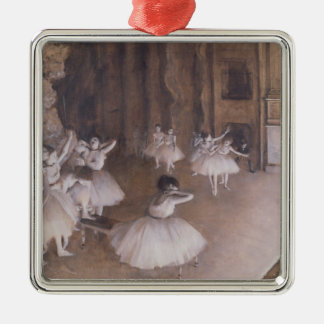 Edgar Degas | Ballet Rehearsal on the Stage, 1874 Metal Ornament