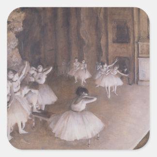 Edgar Degas | Ballet Rehearsal on the Stage, 1874 Square Sticker