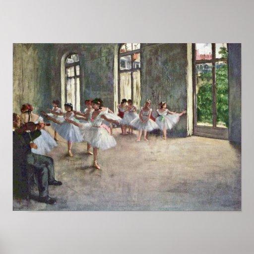 Edgar Degas - Ballet rehearsal Posters