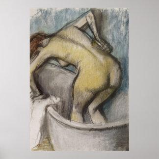 Edgar Degas - Bath Woman Supporting Back 1887 Poster