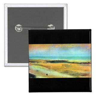 Edgar Degas - Beach at low tide Button