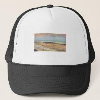 Edgar Degas - Beach @ Low Tide 1869-70 pastel Trucker Hat