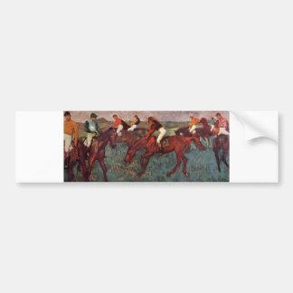 Edgar Degas - Before Start Jockeys Train 1883-90 Bumper Sticker