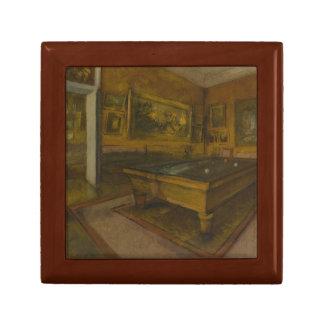Edgar Degas – Billiard Room at Menil-Hubert Keepsake Box
