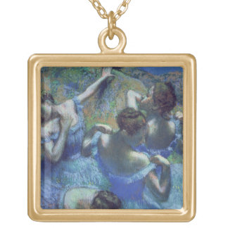 Edgar Degas | Blue Dancers, c.1899 Gold Plated Necklace