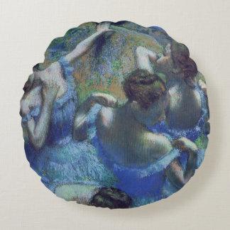 Edgar Degas | Blue Dancers, c.1899 Round Pillow