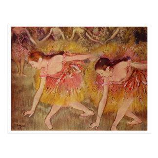 Edgar Degas - Bowing Dancers 1885 Girls Ballet Postcard