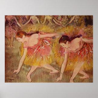 Edgar Degas - Bowing Dancers 1885 Girls Ballet Poster