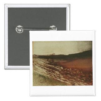 Edgar Degas - Burgundy Landscape 1890 Monotype Pinback Button