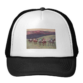 Edgar Degas - caballos de raza que entrenan a 1894 Gorra