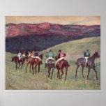 Edgar Degas - caballos de raza que entrenan a 1894 Poster
