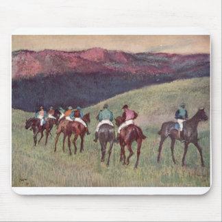 Edgar Degas - caballos de raza que entrenan a 1894 Tapete De Ratones
