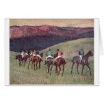 Edgar Degas - caballos de raza que entrenan a 1894 Tarjeta De Felicitación