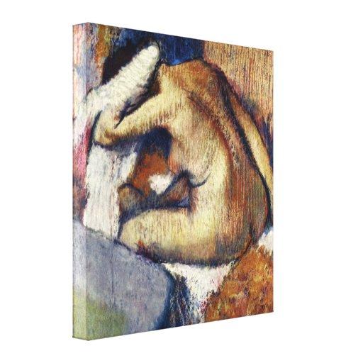 Edgar Degas - cabello seco de la mujer Lienzo Envuelto Para Galerías