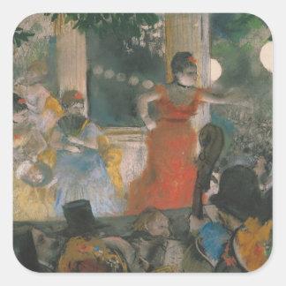 Edgar Degas | Cafe Concert at Les Ambassadeurs Square Sticker