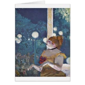 Edgar Degas - canción del concierto del café del p Tarjeta De Felicitación