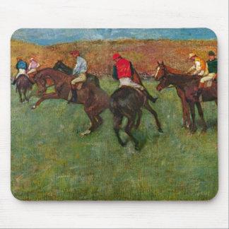 Edgar Degas - carrera de caballos antes del comien Tapetes De Ratones
