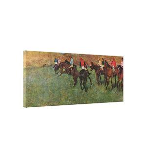 Edgar Degas - carrera de caballos antes del Impresion De Lienzo