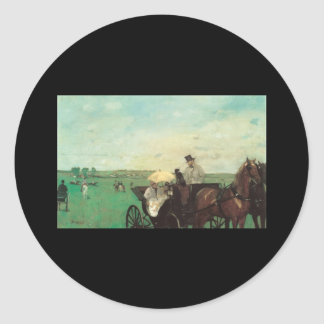 Edgar Degas Carriage At The Races Classic Round Sticker