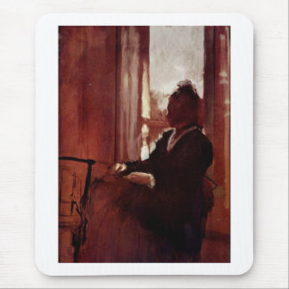 Edgar Degas - cartulina del aceite de la ventana Mouse Pads
