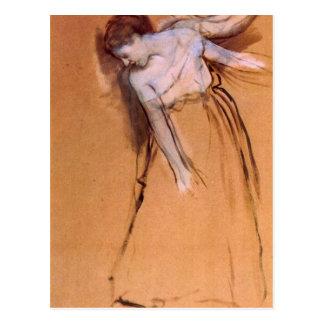 Edgar Degas - colocándose con los brazos estirados Postales