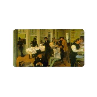 Edgar Degas - Cotton Exchange Custom Address Labels