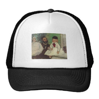 Edgar Degas - Count Lepic & his Daughters 1870 oil Trucker Hat