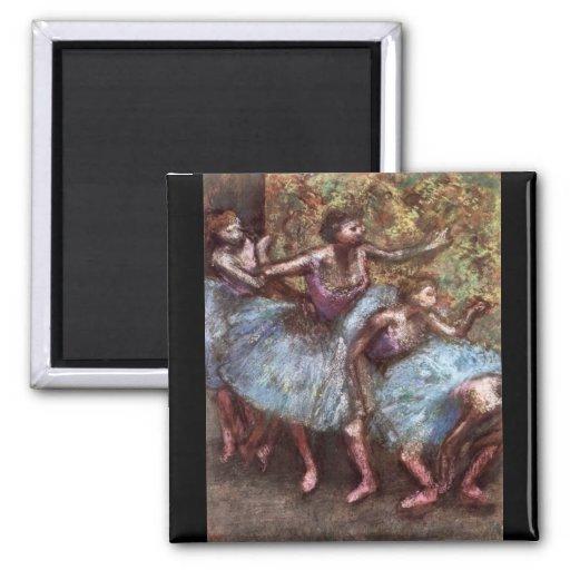 Edgar Degas - cuatro bailarines detrás de las esce Imán Cuadrado