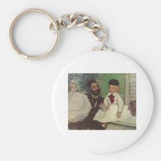 Edgar Degas - cuenta Lepic y su aceite de las hija Llavero Redondo Tipo Pin
