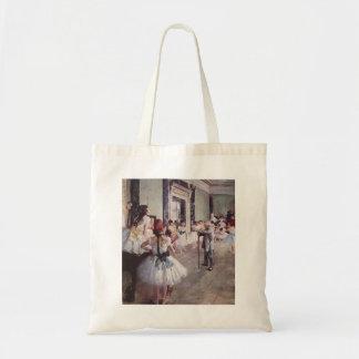 Edgar Degas - Dance Class 1875 oil canvas dancers Budget Tote Bag