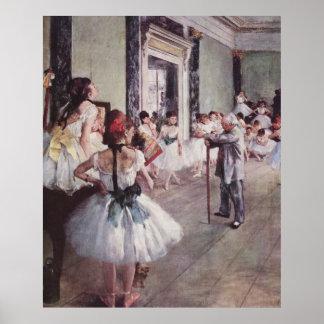 Edgar Degas - Dance Class 1875 oil canvas dancers Poster