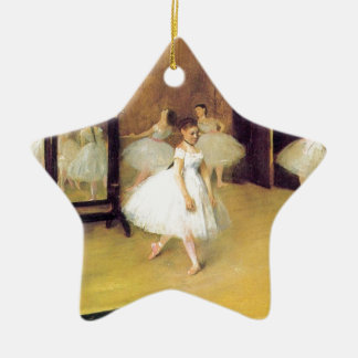 Edgar Degas - Dance Class Ceramic Ornament