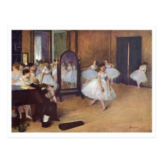 Edgar Degas - Dance Hall 1872 dancer ballerina oil Postcard