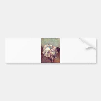 Edgar Degas - Dancer 1881-83 Ballet Stretch pastel Bumper Sticker